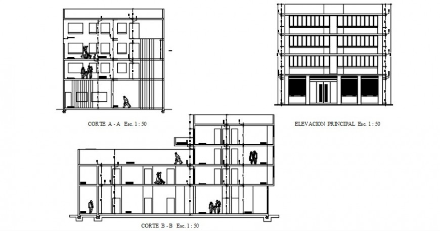 2 d cad drawing of Housing with commercial store auto cad software