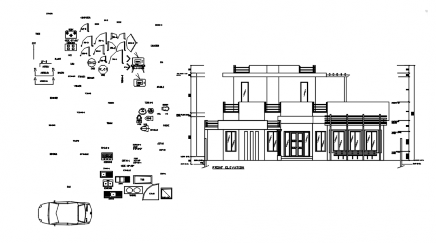 DWG file of amir house details