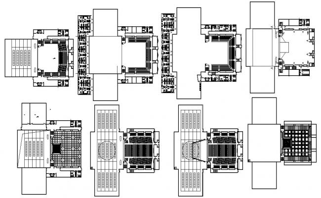 Download The Commercial Building With Auditorium  DWG File