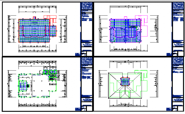 1 to 4 Floor Framing Plan lay-out