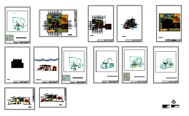 Architectural plans for housing