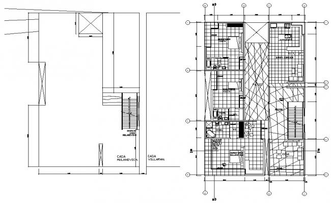 AutoCAD Plan Of House DWG Files Free Download