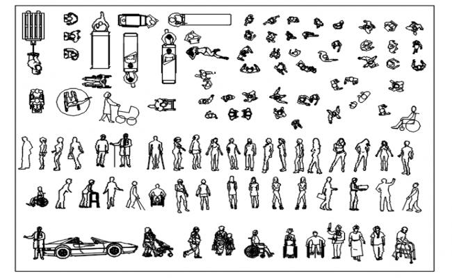 Autocad blocks of humans