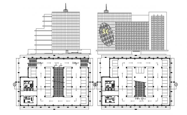 Autocad drawing of shopping center
