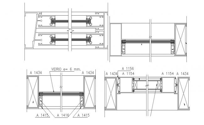 Window Detail Drawing In AutoCAD File