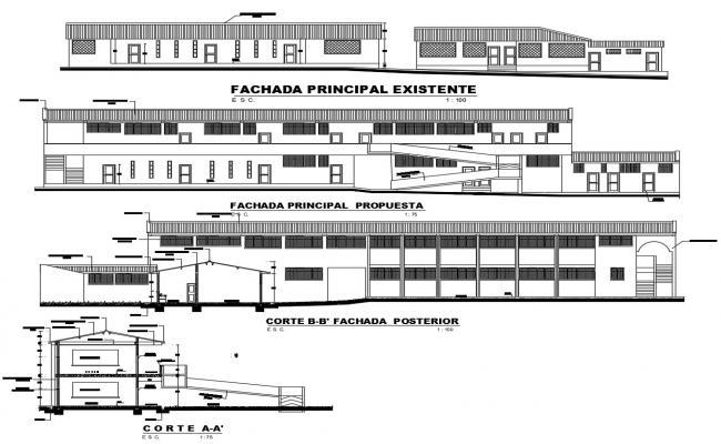 Download College Building Design CAD File