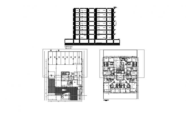Download Free Apartment House Plan In DWG File