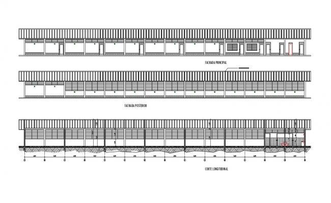Download Free School Building Plan In DWG File