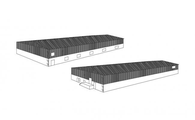 Download Free Warehouse Floor Plan In DWG File