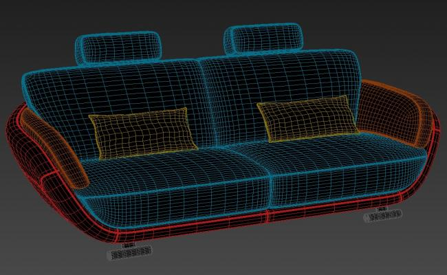 Download Modern Sofa Designs Rendered In 3D MAX File