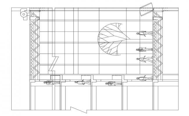 Download The Elevation And Section Of Commercial Building AutoCAD File