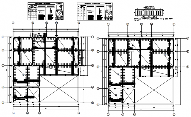 Dwg file of centerline plan of the house