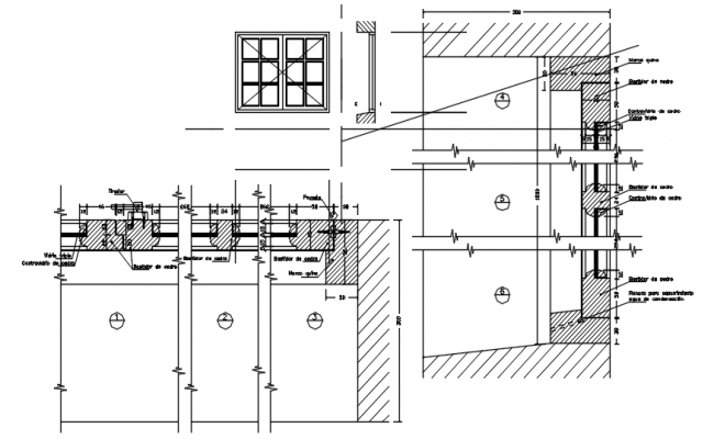 Dwg file of window detail