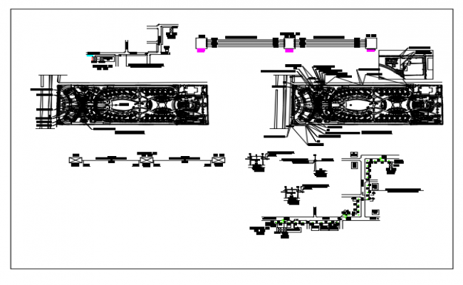 Electrical  details of  fiber cable connections dwg file