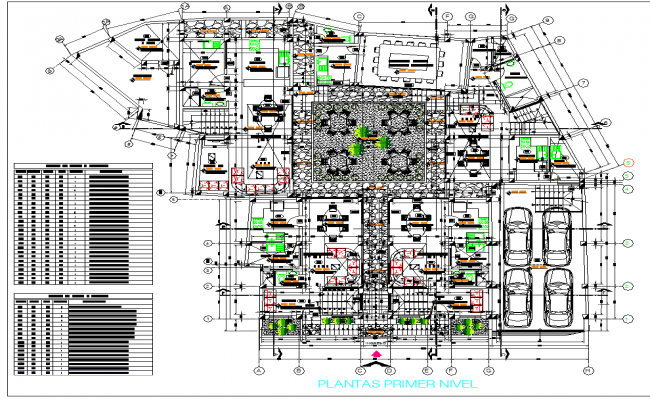 First floor Layout commercial plan detail dwg file