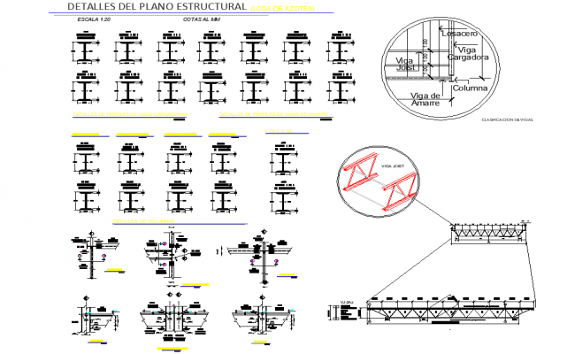 I section plan detail dwg file