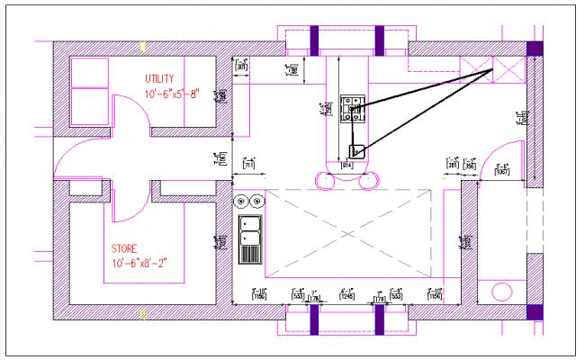 Kitchen plan layout dwg file