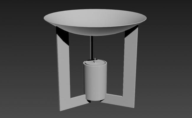 Metal Candle Holders In 3D MAX File Free