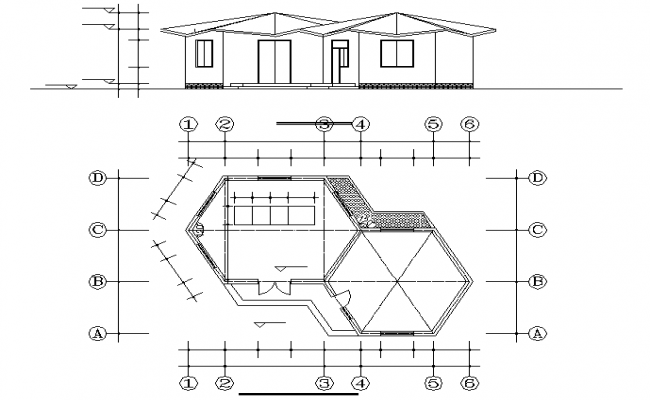 Octagonal heavy eaves Pavilion design