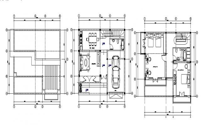 House plan drawing in DWG file