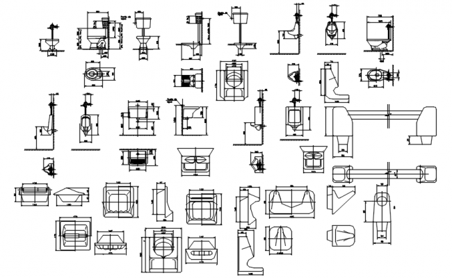 Sanitary layout in dwg file