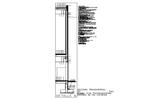 Section Facade dwg file