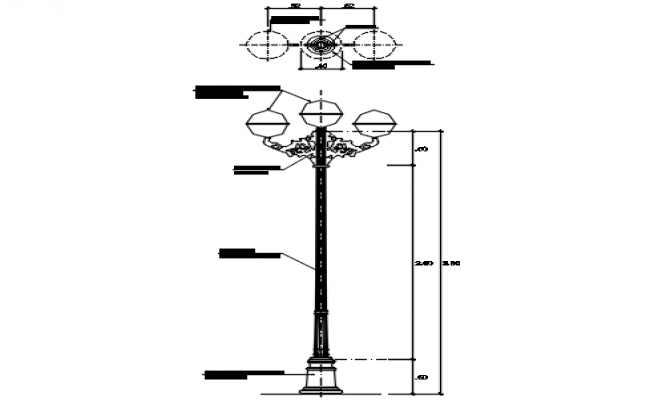 Street light detail dwg file