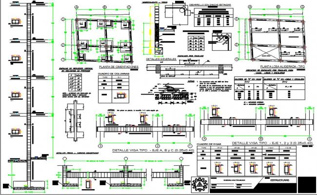 Structural-building plan 40m2