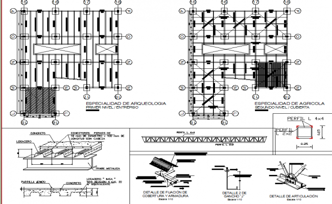 Structure drawing of roof.