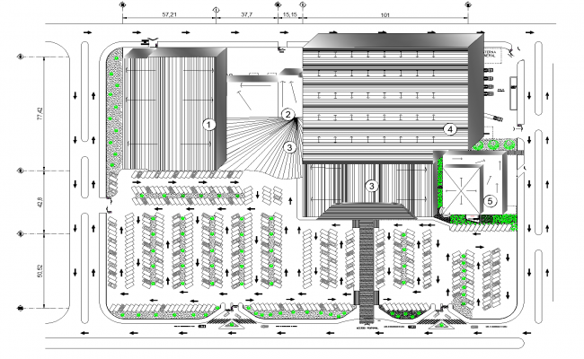 The powerhouse plan detail dwg file.