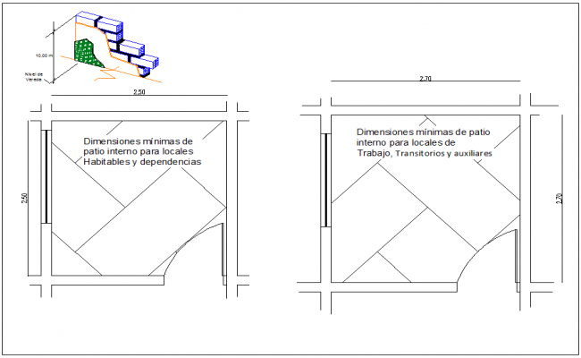 Wall and room plan view dwg file
