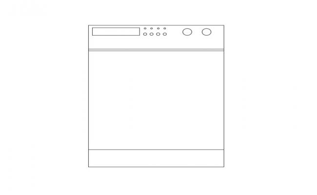 Washing Machine Cad Block Design Free AutoCAD Drawings