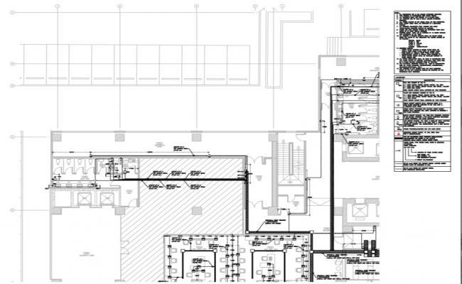 building floor plan wtih power layout detail view