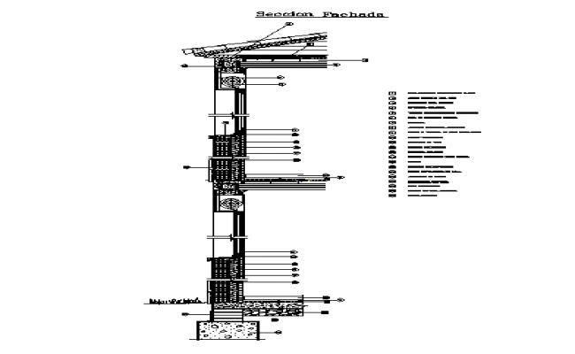 house facade section