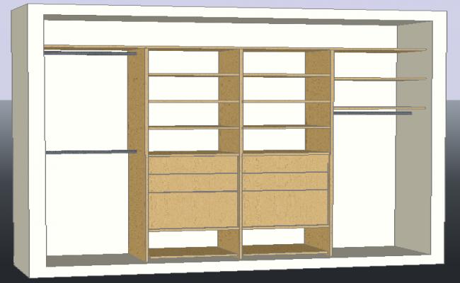 3D drawing of wardrobe