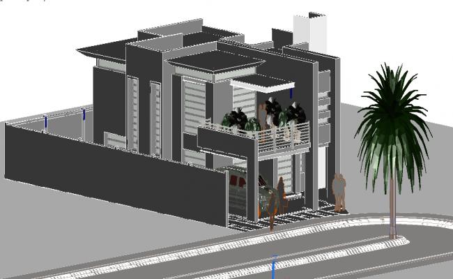 Modern 3D house
