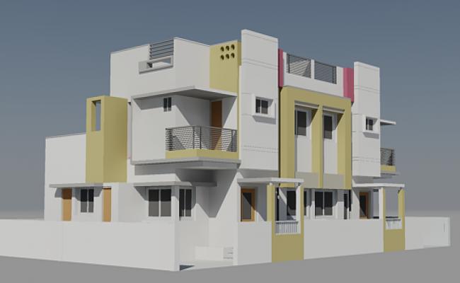 3d Modern Bungalow