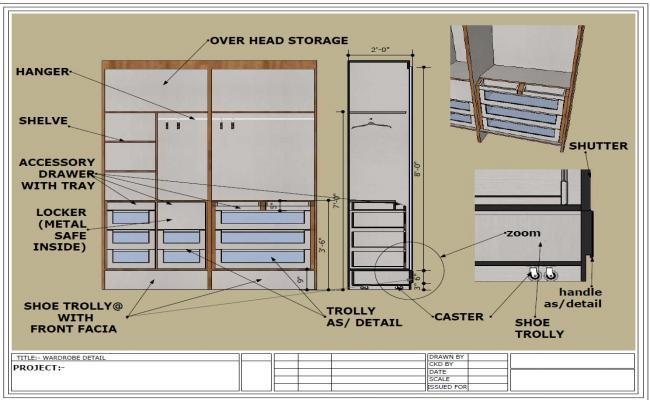 wardrobe detail and design  wardrobe detail drawing pdf