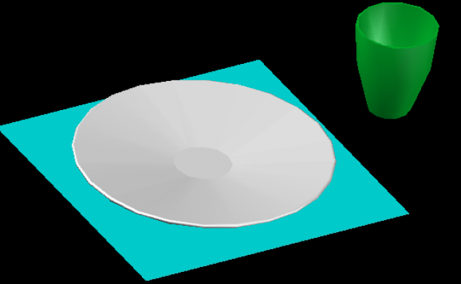 3d Plate and Glass