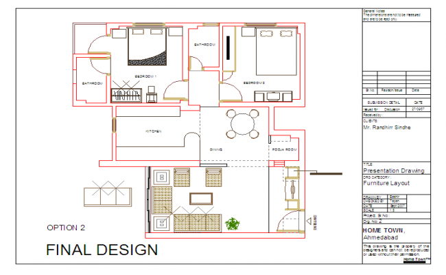 House detail Lay-out