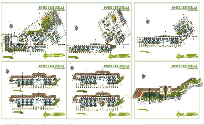 5 Star Master Plan Detail Hotel