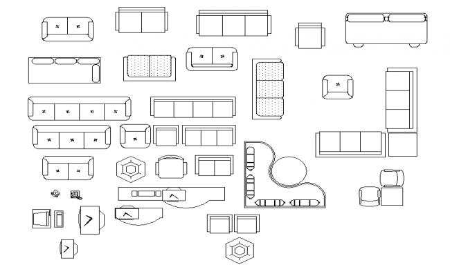 Sofa set Block Detail