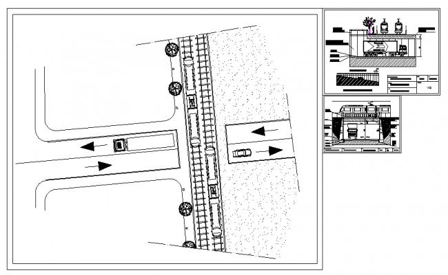 Railway Road Crossing detail