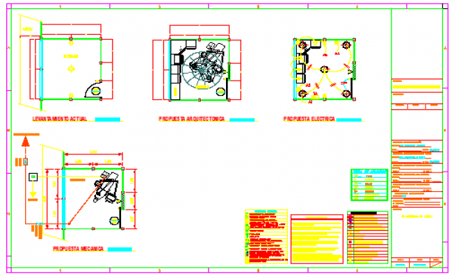 Machine room design drawing