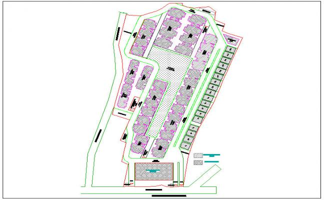 1,2 and 3 bhk appartment Layout plan