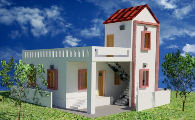 1 BHK 3D Residential House