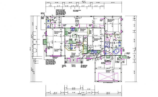 1 BHK House Plan With Vastu DWG File