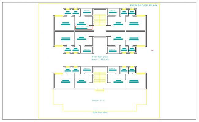 1 Bhk Appartment Plan