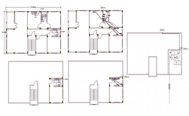 10 X 16 Meter House Plumbing Plan DWG File