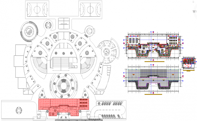 1250 Sq mtr administrations office architecture plan and design